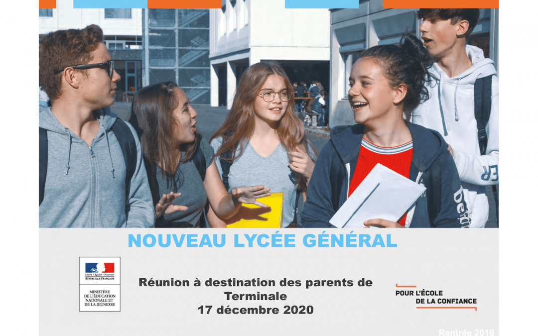 Réunion à destination des parents de Terminale – Bac 2021